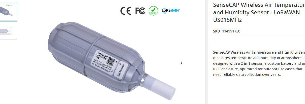SenseCAP Wireless Air Temperature and Humidity Sensor